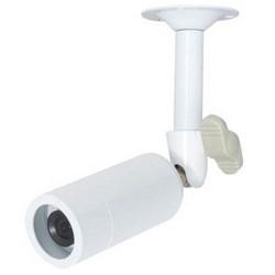 Network Camera, Mini-Bullet, NTSC, 960H, 700 TVL Resolution, 3.6 MM Fixed Lens, 12 Volt DC, 120 Milliampere, White Housing