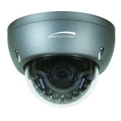 Network Camera, Dome, Intense IR, OSD, Day/Night, 2048 x 1536 Resolution, 2.8 to 12 MM Auto-Iris Varifocal Lens, 12/24 Volt AC/DC, 250/560 Milliampere, Dark Gray Housing