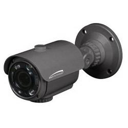 Network Camera, Bullet, Intense IR, OSD, Day/Night, 2048 x 1536 Resolution, 2.8 to 12 MM Auto-Iris Varifocal Lens, 12/24 Volt AC/DC, 310/770 Milliampere, Dark Gray Housing
