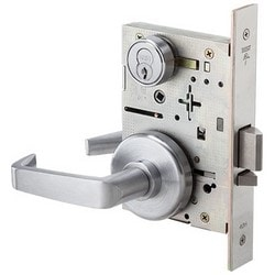 Mortise Lock Trim Kit, Inside Lever x Thumb Turn, Solid Tube Return Lever, Wrought Trim, Brass Base, Satin Chrome, Includes T Turn
