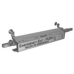 Door Exit Device, Arm-A-Dor, Automatic, Relock, Fire Rated, With Alarm, (2) 9 Volt Battery, For 3 to 4' Door