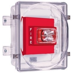 """Strobe Damage Stopper Cover and Enclosed Backbox, Weatherproof, Polycarbonate Cover, 4"""" Deep, NEMA 4X"""