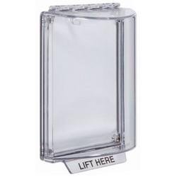 Butoir universel, intérieur/extérieur, couvercle en dôme, montage encastré, polycarbonate, transparent sans étiquette, sans boîtier pour avertisseur sonore