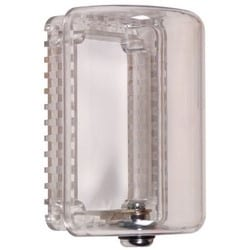 "Thermostat Protector, Mini, 2.5"" Width x 3"" Depth x 4"" Height, Clear, With Key Lock"