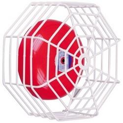 "Clock/Bell Damage Stopper, 10.5"" Diameter x 6"" Depth, 9 Gauge Coated Steel Wire, White"