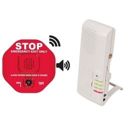 Wireless Exit Stopper, Multi-Function Door Alarm, With 4-Channel Voice Receiver