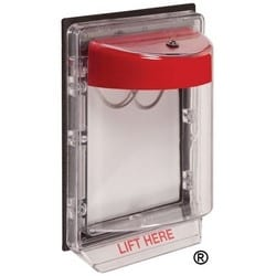 """Fire Alarm Protective Cover, 5"""" Width x 3.2"""" Depth x 7"""" Height, Polycarbonate, Without Horn Flush Mount, No Label"""