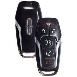 Key Blank, 2-Way, 5-Button, PEPS Fob, 902 Megahertz, OBP-20 Programming, Transponder, For Lincoln 2014 to 2017 Year Model