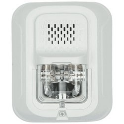 """Fire Protection Chime Strobe, Indoor, Wall Mount, 12/24 Volt DC, 18 to 12 AWG?, 5.6"""" Length x 4.7"""" Width x 1.91"""" Depth, White"""