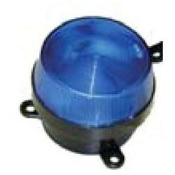 "Strobe Light, Stud Mount, 12 Volt DC, 650 Milliampere, 15000 Lumen, 3.03"" Diameter x 1.89"" Height, Xenon Bulb, Blue"