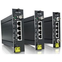Audio and Data Transceiver, Dual Fiber Multiplier, Digital, Standalone, 2 x Full Duplex Contact Closure, ST Connector