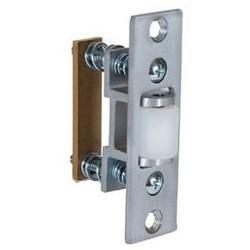 "Closet Door Roller Latch Strike, Heavy Duty, 4-7/8"" Length x 2"" Width x 3/32"" Depth, Oil Rubbed Bronze, For 1559 Series Roller Latch"