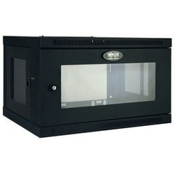 Tripp Lite 6U Low-Profile Wall-Mount Rack Enclosure Cabinet with Clear Acrylic Window, Removable Side Panels, 15H x 24W x 18D