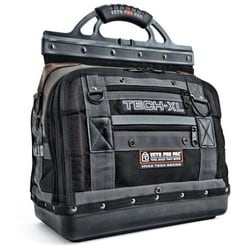 """Tool Bag, (80) Vertical Tool Pocket, (14) Neoprene Pocket, (4) Large and (5) Small D-Ring, 16.5"""" Length x 9.5"""" Width x 20.75"""" Height, PVC Impregnated Nylon Body/Tool Pocket"""
