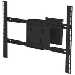 """Flat Panel Ceiling Mount Adapter, Dual, Large, 34.8"""" Width x 12.1"""" Depth x 22"""" Height, Black Powder Coated, For 37 to 90"""" Flat Panel"""