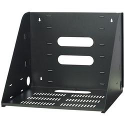 Vented Wall Shelf, 200 Lb Capacity, Black Static-Resistant Powder Coated