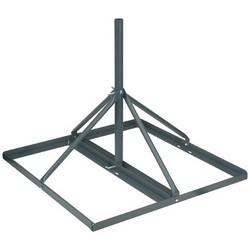 "Satellite Dish Roof Mount, Non-Penetrating, 35"" Width x 35"" Depth x 60.5"" Height, 60"" Mast x 1.25"" Outer Diameter, Steel, Dark Gray Weatherproof Powder Coated"