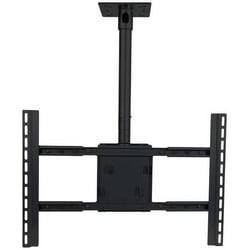 """Flat Panel Ceiling Mount, Large, 180 Lb Capacity, 33.9"""" Width x 5.7"""" Depth x 47.9"""" Height, Black Powder Coated, For 37 to 80"""" Flat Panel"""
