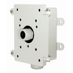 Network Camera Junction Box, IP66, 118 MM Length x 151 MM Width x 35 MM Height, Aluminum Alloy, White
