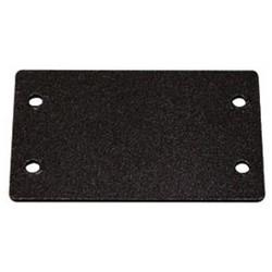 "Audio/Video Interface Blank Plate, Double, 2.2"" Length x 1.4"" Width, Metal, Black"