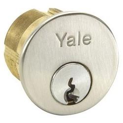 "Mortise Lock Cylinder, Symphony, Conventional, 6-Pin, FL Keyway, 0-Bit, 1-1/8"" Length, Satin Chrome"