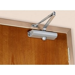 Door Closer, Non-Handed, Regular/Top Jamb/Parallel Arm, 1-Piece, Non-Hold Open, Heavy Duty, 1-6 Adjustable Size, Cast Aluminum, Statuary Bronze, With Through Bolt/Grommet Nut