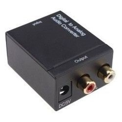 DIGITAL OPTICAL COAX TO       ANALOG RCA AUDIO              ADAPTER