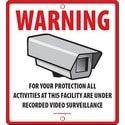 "CCTV Sign, Generic, Outdoor, Wall/Fence Mount, 10.5"" x 10.5"" Footprint"