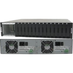 MCR1900-DAC 19 slot Modular Chassis System: Dual AC power, 15 empty slot cover plates, Mounting brackets for 19-inch racks