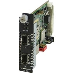 CM-10GR-STS - Managed 10 Gigabit Media and Rate Converter Module, dual SFP+ slots (empty)