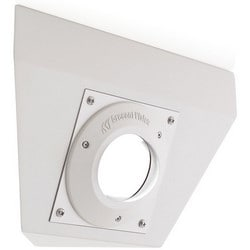 """Camera Corner Mount, No Grip, Rugged, IP66, 9.13"""" Width x 5.96"""" Height, Die-Cast Aluminum, Ivory, For Micro-Dome Camera"""