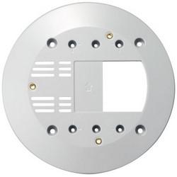 "Network Camera Junction Box Plate, 6.69"" Diameter x 0.47"" Height, Polycarbonate Resin, For VB-S30D/VB-S31D/VB-S800D/VB-S805D Network Camera"