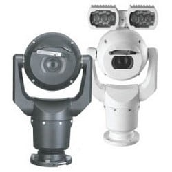 "Security Camera, PTZ, Ruggedized, 7000 HD, Day/Night, 1/3"" CMOS, 30x Optical Zoom, 1280 x 720 Resolution, 24 Volt AC, 50/60 Hz, Cast Solid Aluminum, Sand, Gray"