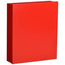 "Intrusion Alarm Enclosure, Indoor, Medium, 12.5"" Width x 3"" Depth x 14"" Height, Cold Rolled Steel, Red, For Control Panel"