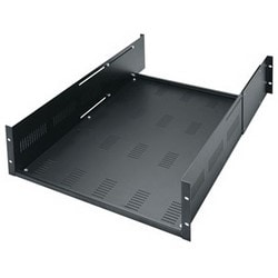 "Rackshelf, Adjustable, 3RU, 300 Lb Capacity, 19"" Width x 19.5"" Depth x 5.25"" Height, Steel"