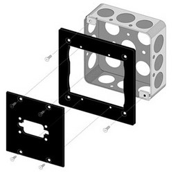 "UCP Module Adapter, 85 Lb Capacity, 19"" Width x 15.875"" Depth x 7"" Height, Aluminum, Black Brushed and Anodized"