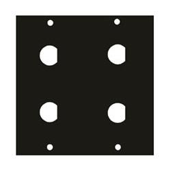 "UCP Module, 1/2"" Diameter 4-BNC Punchout, 3.39"" Width x 0.125"" Depth x 3.49"" Height, Aluminum, Black Brushed and Anodized"