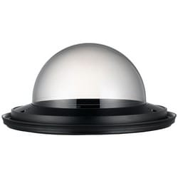 "Smoked Dome Cover, Tinted Bubble, 8.81"" Width x 4.22"" Height, Polycarbonate (Base/Cover Glass), Black Base Top, Transparent Smoked Cover Glass, For SNP/SCP Model"