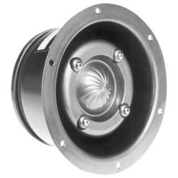 """Speaker, Submergenceproof, Paging Horn, Flush Mount, 104 dB Sensitivity, 800 to 5000 Hertz, 25 Watt, 7.3"""" Diameter x 3.8"""" Length, Heavy Gauge Spun Aluminum"""