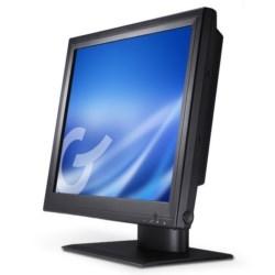 GVision, 15in LCD Touch Screen, Desktop, VGA+DVI, XGA 1024x768, 250 Nits, 700:1 Contrast, 5-Wire Resistive-Dual USB+Serial, Speakers, 75mm VESA, Black, 90 Degreee Tilt Stand