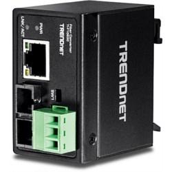 Hardened Industrial 100Base-FX Single-Mode SC Fiber Conerter (30 km, 18.6 mi.)