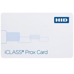 iClass Prox Card, PVC, 2k Bits (256 Bytes) w/ 2 App Area, Prog w/ SIO & Std iClass Access CTRL App, Front: White w/ Gloss Finish, Back: White w/ Gloss Finish w/ Magnetic Stripe, Seq Match Encoded/Print, No Slot punch, Seq Match Encoded/Print