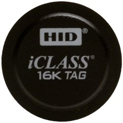 iCLASS Tag, 2k Bits (256 Bytes) w/ 2 App Areas, Prog w/ SIO & iClass Encoding, Front: Black w/ HID Std Artwork, Back: Adhesive, Seq Match Encoded/Print