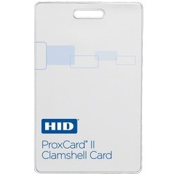 ProxCard II Card, Non-Prog, Low Freq (125kHz), Front: White Vinyl w/ Matte Finish, Back: Base w/ Molded HID Logo, No Print Card Number, Vertical Slot Punch