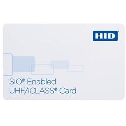 iClass UHF Card, 32k Bits (4kB) App Areas 16k/2+16k/1, UHF Prog w/ SIO, iCLASS Prog w/ Std iCLASS Access Control Application Payload, Front & Back: White w/Gloss Finish, Seq Match Encoded/Print, Seq Match Encoded/Print, No Slot Punch