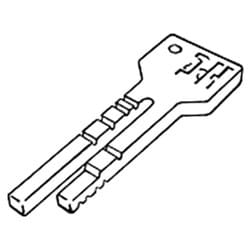 Key Machine Tip Stop, Horseshoe, For 7-Pin Best and 10-Cut Ford, Blitz, Switch Blitz, CodeMax and Trace-A-Key Series Key Machine