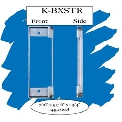 """Weldable Box, Cylindrical, 1-3/4"""" Width x 3/8"""" Depth x 5-1/8"""" Height, 14 Gauge Steel, For Holding an ANSI Strike Plate"""