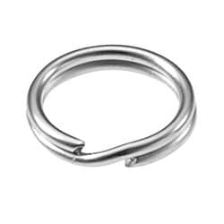 """Chain and Connector, Split Ring, 5/16"""" Diameter, Steel, Nickel Plated, 100 each per Pack"""