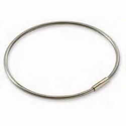 "Key Ring, Pull Apart, 3-1/2"" Diameter, 1/8"" Galvanized Plated Steel, Silver, 25 each per Display Box"
