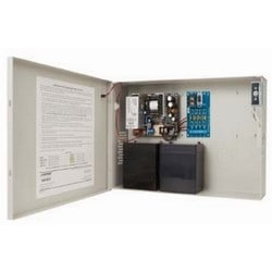 "Power Supply, Class II, 90 to 240 Volt AC at 47 to 63 Hertz Input, 12/24 Volt DC Output, 1.5/3 Ampere, 14"" Length x 9"" Width x 3.5"" Depth Enclosure, With Distribution Board"